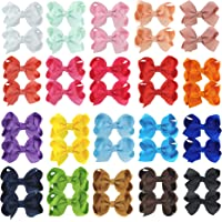 """40PCS Hair Bows Baby Hair Clips for Babies Fine Hair Infants Toddlers Girls (3"""" Bows-40PCS)"""