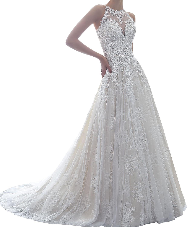 Amazon Onlybridal Womens Bridal Gown Applique Halter