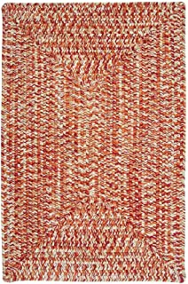 product image for Colonial Mills Ocean's Edge Braided Outdoor Rug (2' x 3') - 2' x 3' sunset orange Red, White, Green