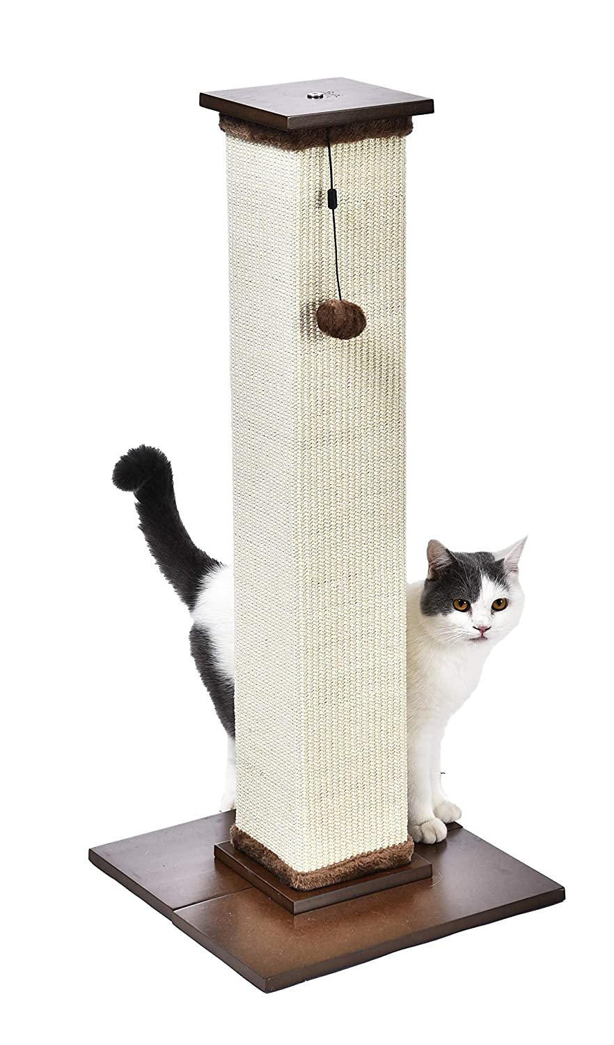 16 x 20 x 16 Inches Beige Basics Cat Condo Tree Tower With Hammock Bed And Scratching Post