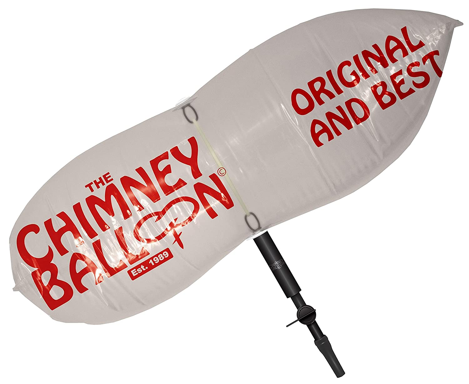 Chimney Balloon Kit (Medium) for Chimneys up to 24x12/60cmx30cm + FREE TUBE by Chimney Balloon The Chimney Balloon Company
