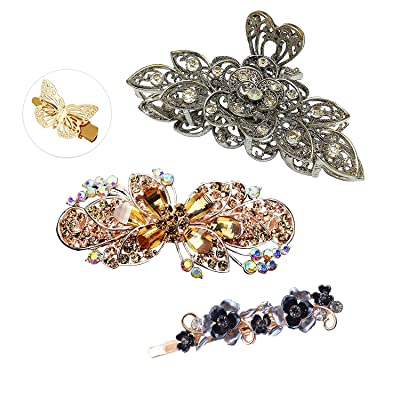 Strong Hair Claw Clips Large Rhinestones Jaw Clips Hair Clamps Hair Accessories