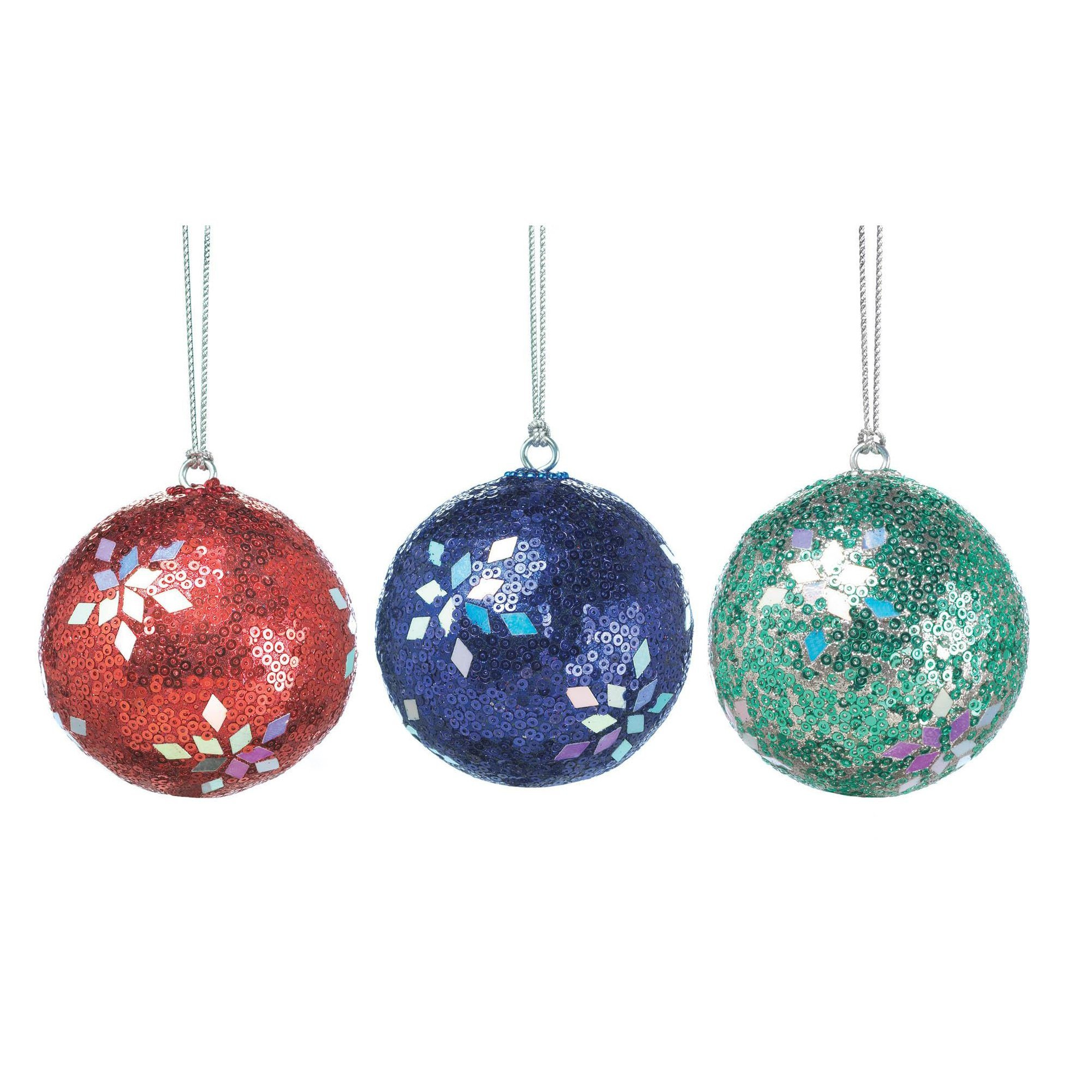 Christmas Ornament Balls, Shiny Plastic Ornament Balls for Home (Sold by Case, Pack of 24)