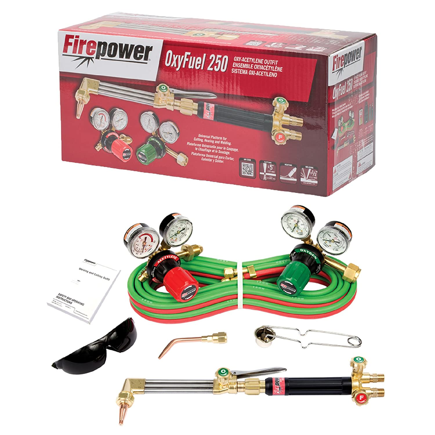 Amazon.com: Firepower 0384-2571 250 Series OxyFuel Medium Duty Acetylene Outfit: Industrial & Scientific
