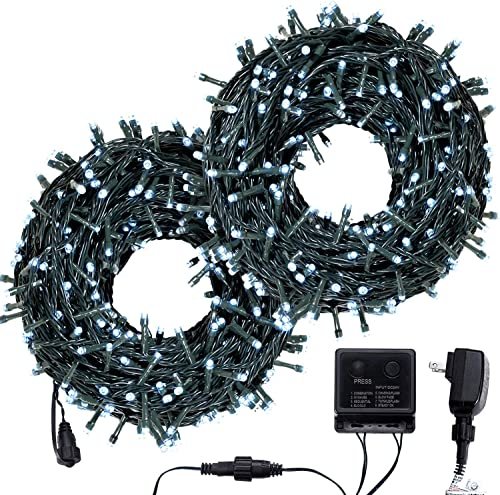 Bestalent Outdoor Christmas String Lights 600LED 209ft,White Light for Christmas Halloween Garden Patio Wedding BBQ Party