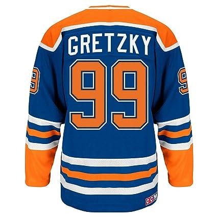 Wayne Gretzky Edmonton Oilers Blue Heroes of Hockey Authentic Jersey  (Medium 50) fb8dc00dd