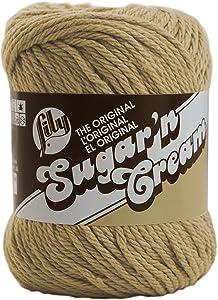 Lily Sugar 'N CreamThe Original Solid Yarn - (4) Medium Gauge 100% Cotton - 2.5 oz - Jute -Machine Wash & Dry