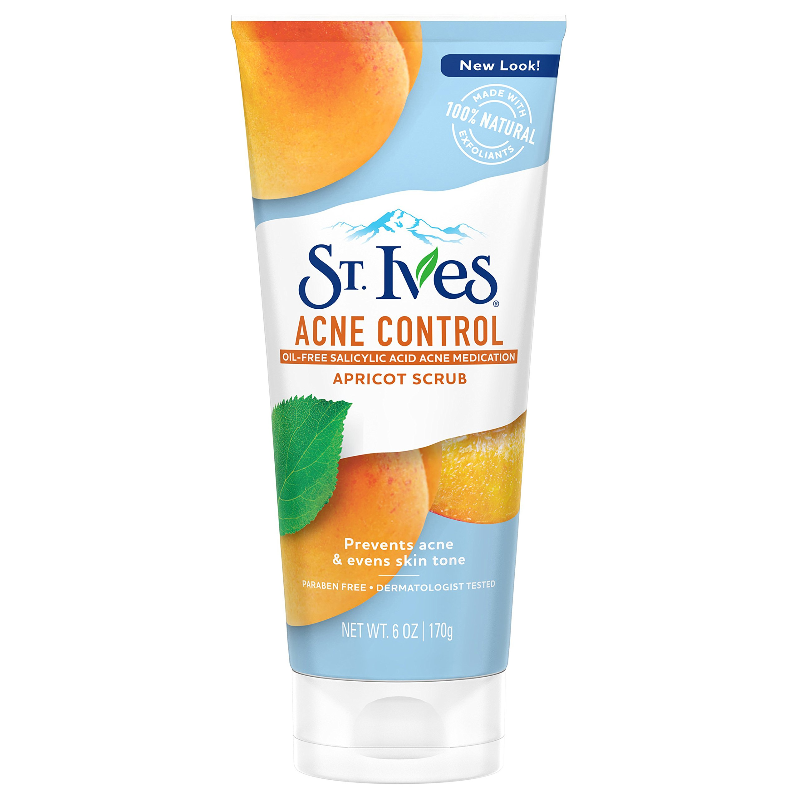 St. Ives Acne Control Face Scrub, Apricot, 6 oz (Packaging May Vary)
