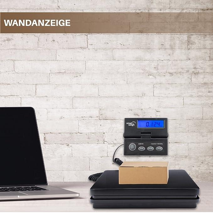 Smart Weigh Báscula Digital para Peser el Correo, con un Cordón Extensible, y un Pantalla de Visualización Retroiluminación en Azul, las Pilas y Cable USB ...