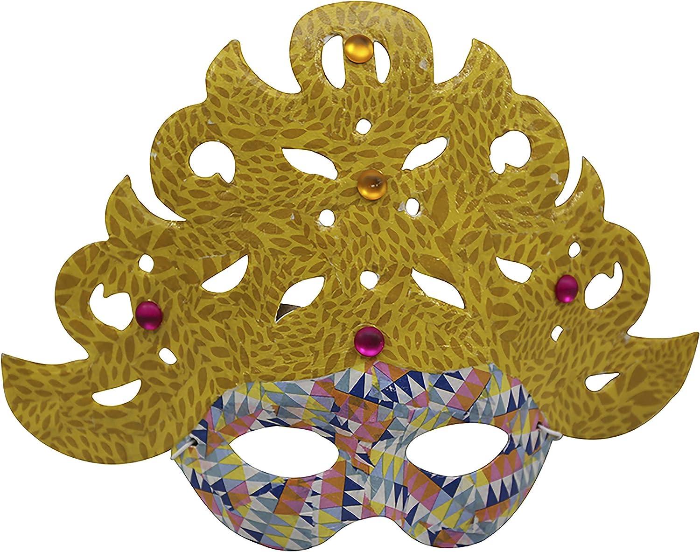 5x16x9.5 cm Brown D/écopatch Mache Eye Mask No1