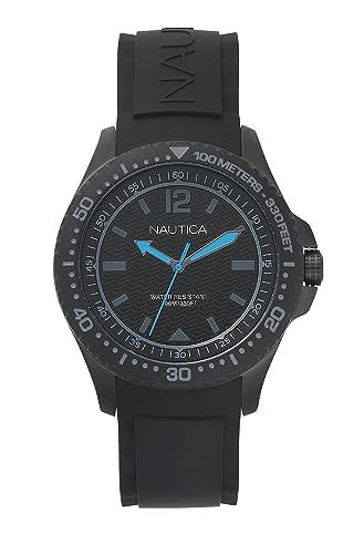 Nautica Klassisch Datum Armband Mit Uhr Quarz Silikon Herren KcT3ulFJ1