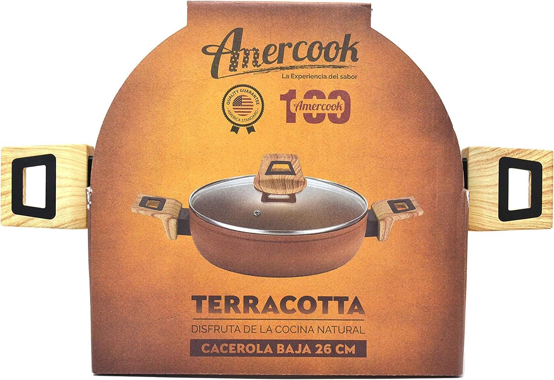 Set Amercook sartén de 24 cm y 26 cm, cacerola 24 cm. y