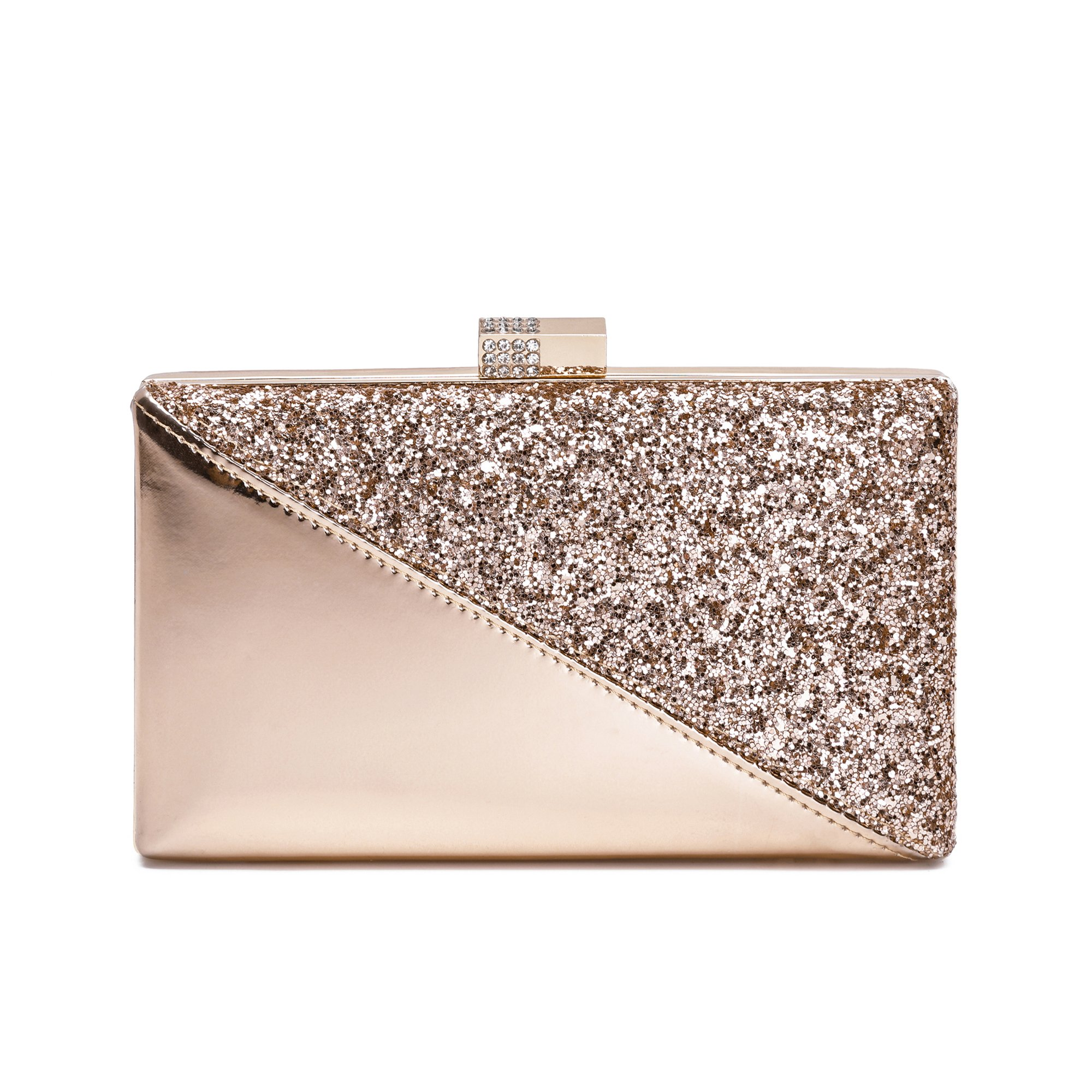 Sparkling Clutch Purse Elegant Glitter Evening Bags Bling Evening Handbag For Dance Wedding Party Prom Bride (Champagne)