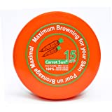 Carrot Sun® Carrot Cream Tan Accelerator plus SPF15 with Carrot Oil, L-Tyrosine, & Henna for a GOLDEN tan-FAST! 200ml