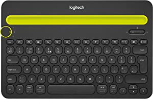 Logitech Bluetooth Multi-Device Keyboard K480 – Black – works with Windowsand Mac Computers, Android and iOS Tablets and Smartphones