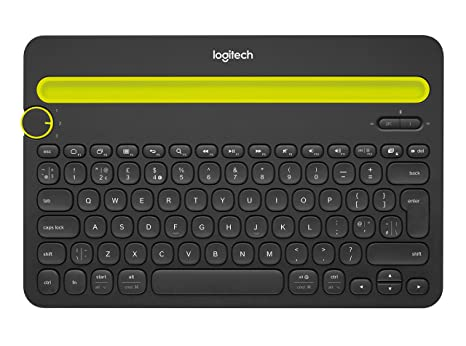 1940a859272 Logitech Bluetooth Multi-Device Keyboard K480 - Black - works with Windows  and Mac Computers