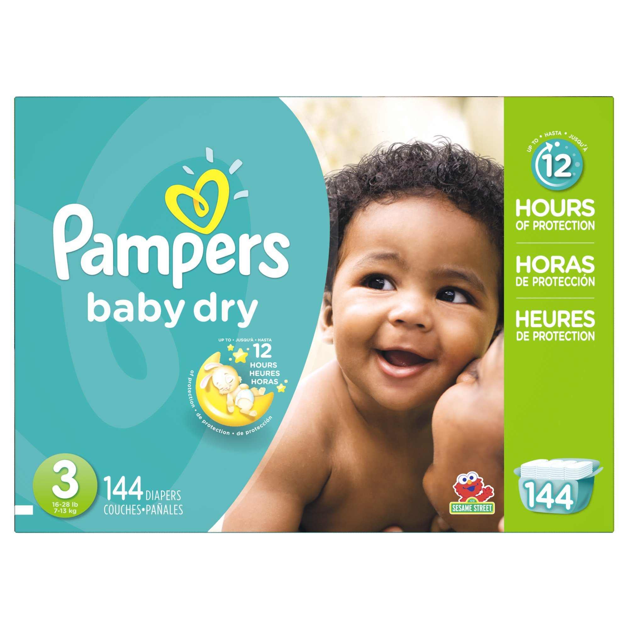 Pampers Baby Dry Diapers Giant Pack Size 3 144 Count 20