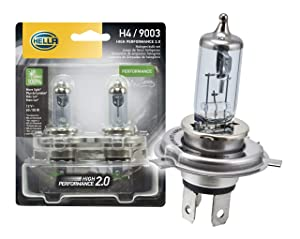 HELLA 2.0TB HP2.0-60/55W High Performance 9003 Bulbs, 12V, 60/55W 2 Pack