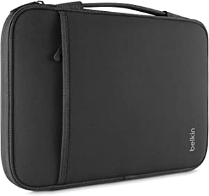 Belkin B2B064-C00 Sleeve(13 inch sleeve) for 12-Inch Laptops and Chromebook, Compatible with iPad Pro and Most 12-Inch Laptops / Notebooks (Black)