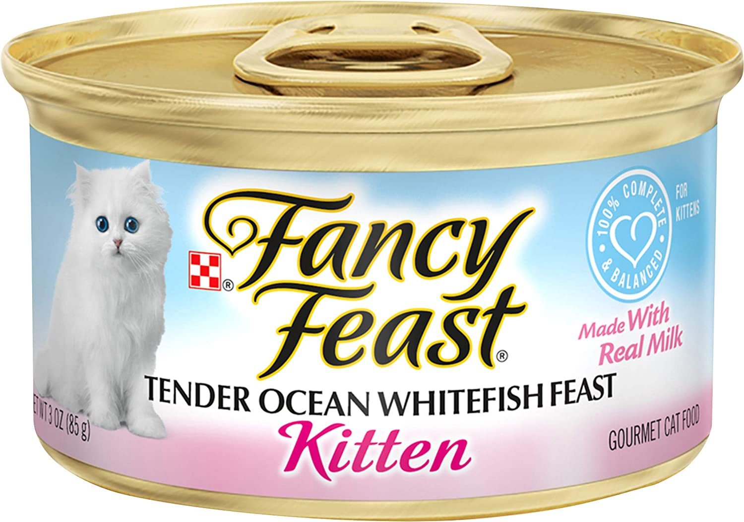 Purina Fancy Feast Wet Kitten Food Tender Ocean Whitefish Feast 24 3 Oz Cans Amazon Com Au Pet Supplies