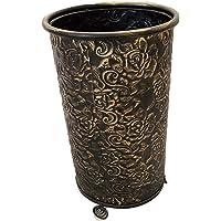 Regalo Barato Decoracion Circular Pasillo recibidor 24x50cm Decohouse Paraguero Original Calado Negro Oro