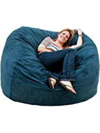 Cozy Sack 5 Feet Bean Bag Chair, Large, Navy