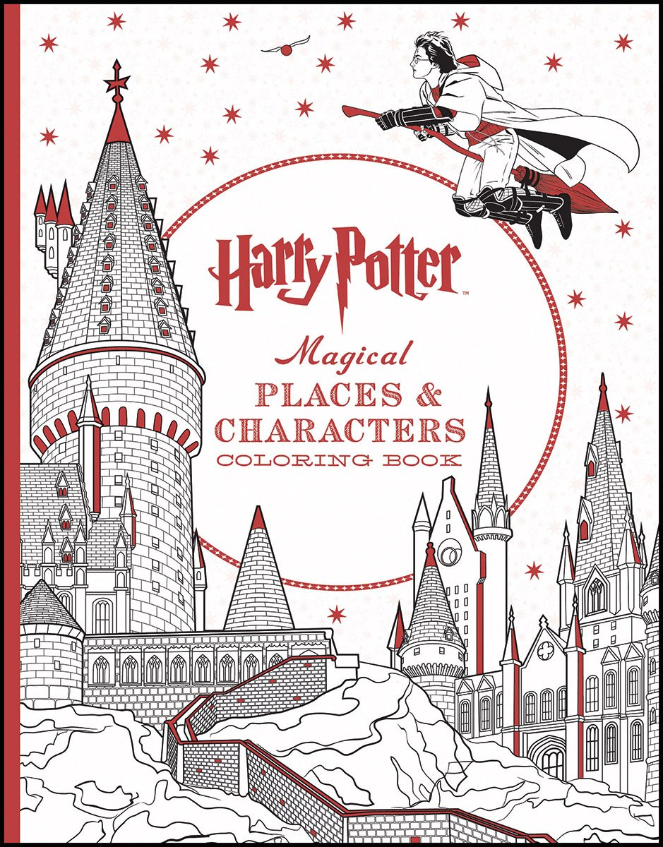 Online coloring harry potter - Harry Potter Magical Places Characters Coloring Book Scholastic 9781338030013 Amazon Com Books