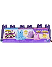 Kinetic Sand 6038015 Shimmering Sand Multi-Pack with Moulds, Mixed Colours