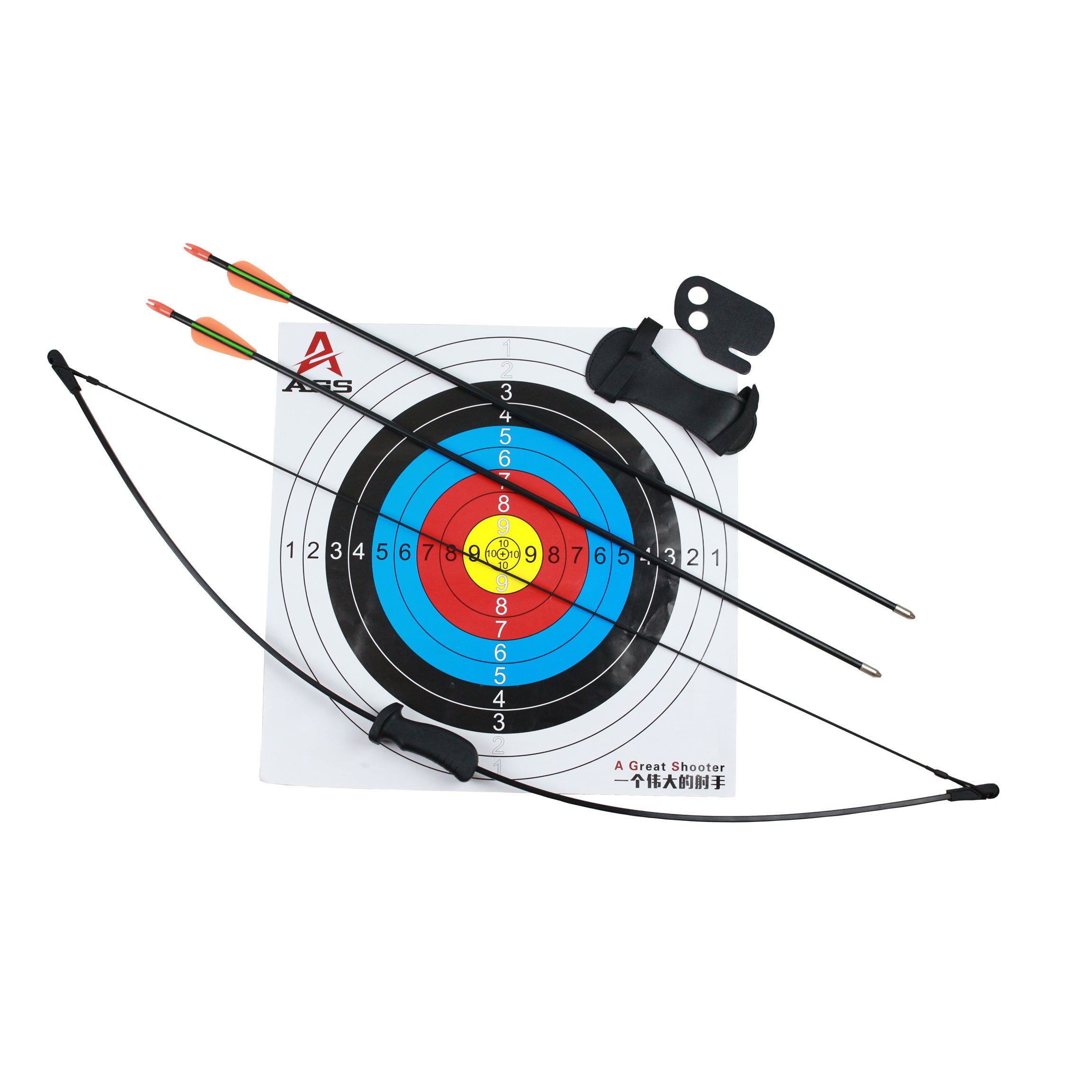 Geelife Archery Bow and Arrow Set for Kids Teens Youth Outdoor Sports Game Hunting Toy Gift Bow Set with 2 Arrows and Target Sheet 16 Lb