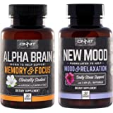 Onnit Alpha Brain and New Mood Nootropic Pack | Supports Optimal Cognitive Function and Mood