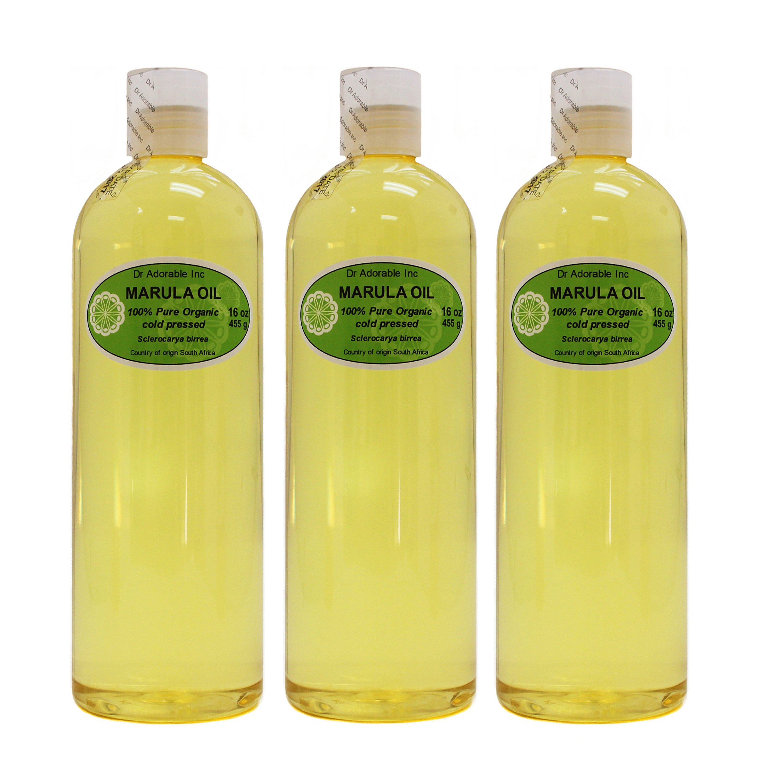 MARULA CARRIER OIL BY DR.ADORABLE 100% PURE ORGANIC COLD PRESSED 48 oz/3 PINT