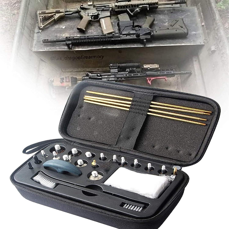 Bolsa de escopeta que acampa, Kit de limpieza de armas, equipo de limpieza de armas, herramientas de limpieza 10 cabezas de cepillo de alambre de cobre (12ga, 20/28, 410.30.27.22.45 / .44.40, 357 / 38