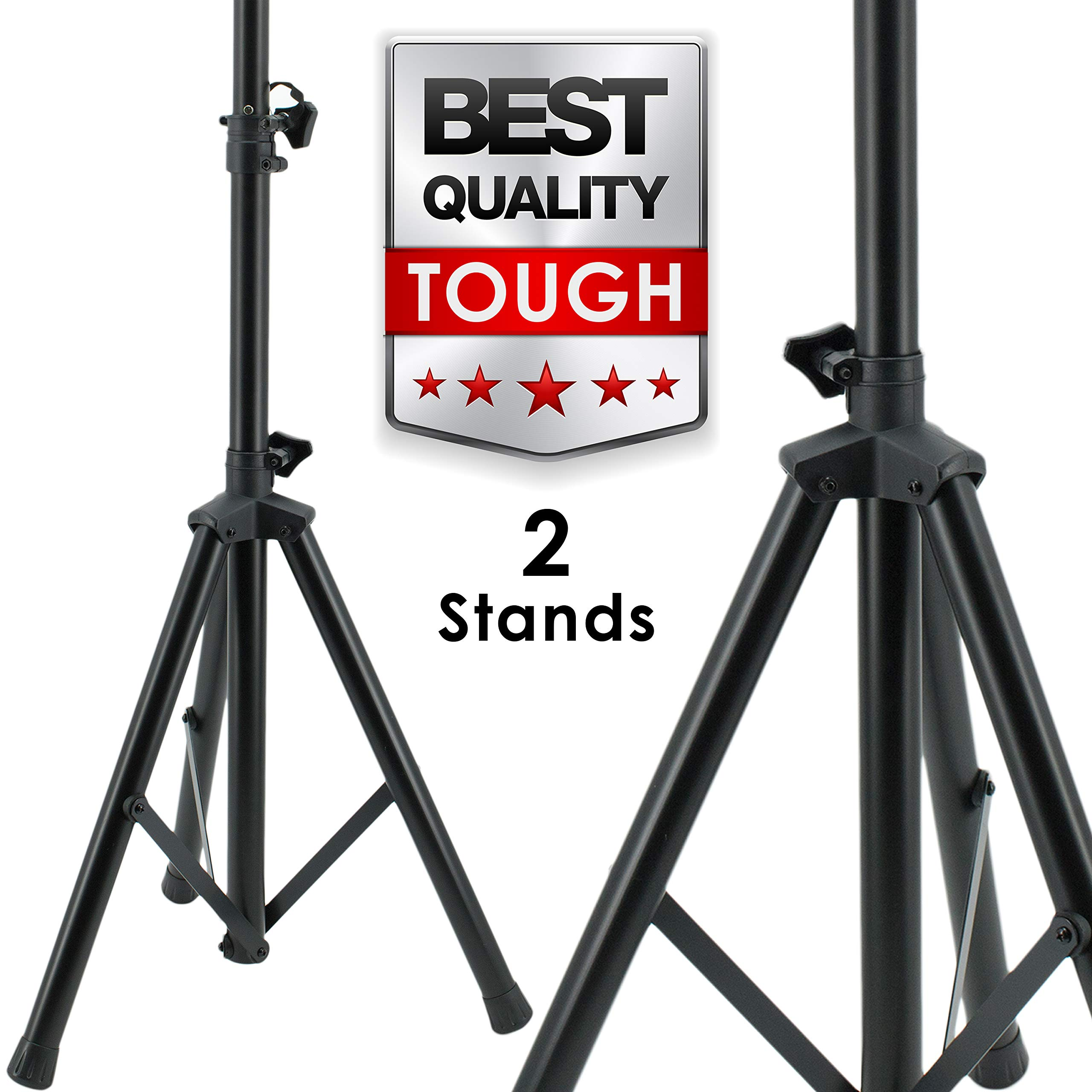 Pair EMB SS06 Heavy Duty Adjustable Height Tripod DJ PA Speaker Stand Universal - 2 Stands by EMB (Image #1)