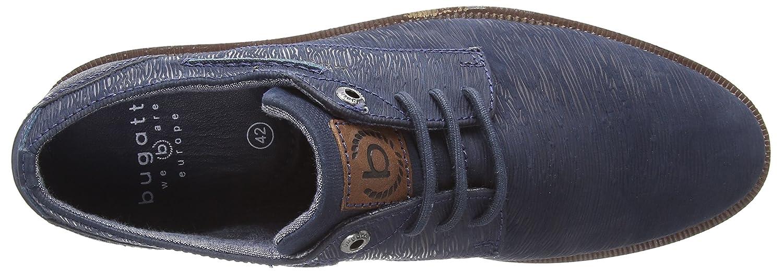 3.1254E+11, Zapatos de Cordones Derby para Hombre, Gris (Grey 1500), 41 EU Bugatti