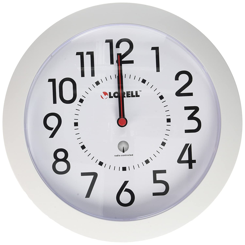 Amazon lorell wall clock 9 inch white dialwhite frame amazon lorell wall clock 9 inch white dialwhite frame home kitchen amipublicfo Choice Image