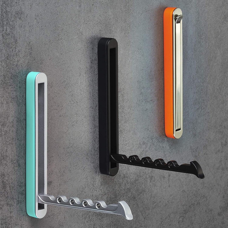 Aufbau Klapphaken HARZ Chrom matt//schwarz 140 x 16 mm Garderobenhaken Kleiderhaken Jackenhaken klappbar von SO-TECH/®