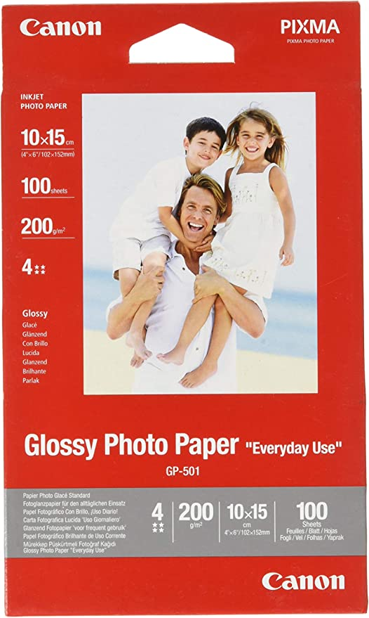 Canon GP 501 Glossy Photo Paper, 10 x 15 cm, 100 Sheets: Amazon.co.uk: Office Products
