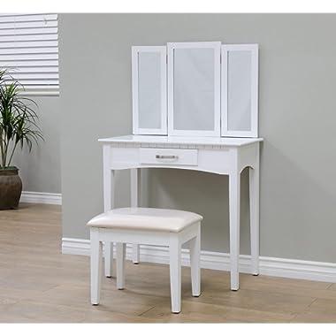 Frenchi Home Furnishing RVMH206WH Vanity, White