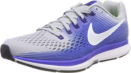 Groseramente tristeza Insignia  Nike Men's Air Zoom Pegasus 34 (N) Trail Running Shoes, Multicolour (Wolf  Grey/White/Racer Blue 007), 11 UK: Amazon.co.uk: Shoes & Bags
