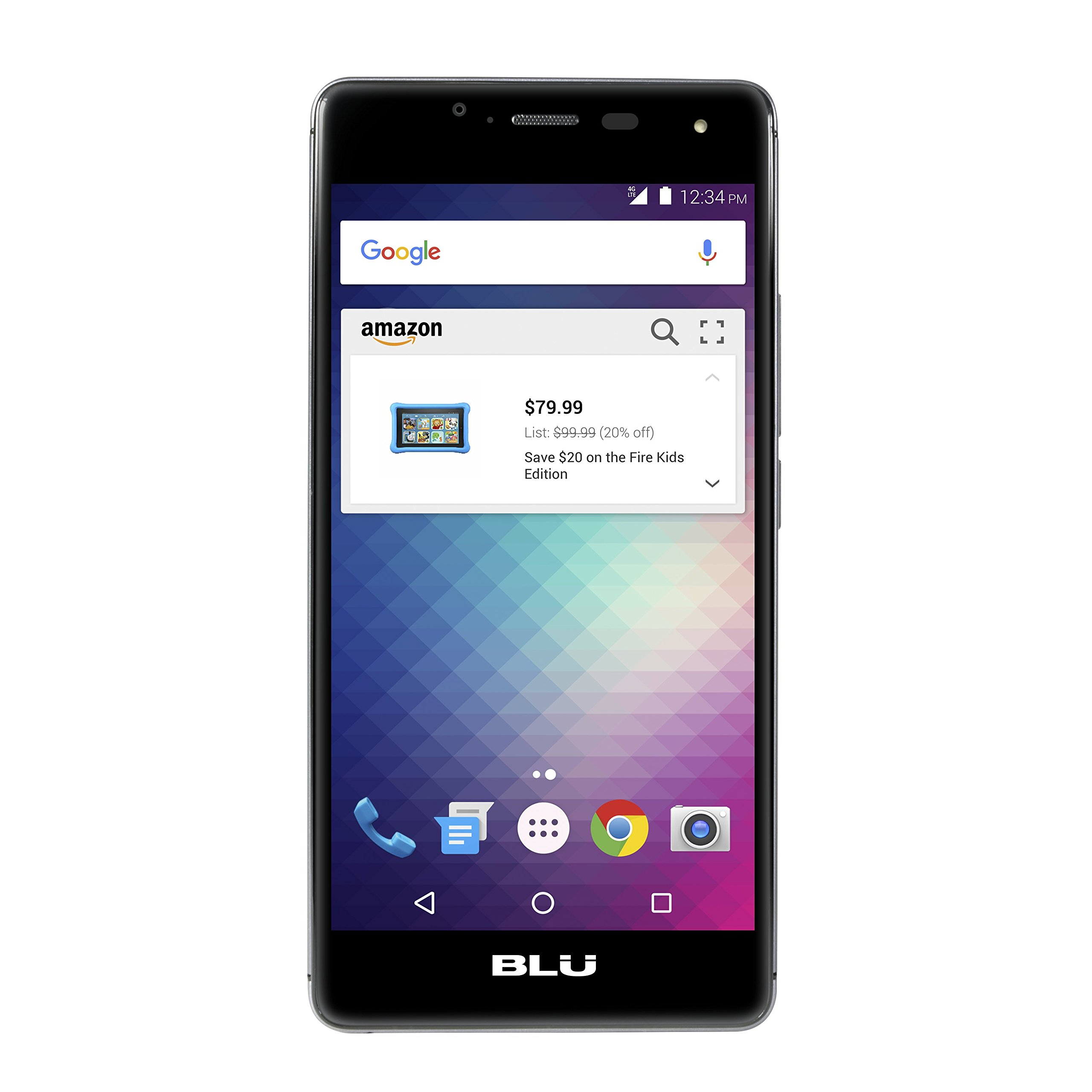 BLU R1 HD - 16 GB - Black - Prime Exclusive - with Lockscreen Offers & Ads - Unboxed