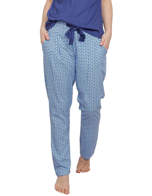 TALLA 42. Cyberjammies 3758 Women's Ophelia Blue Tile Print Pajama Pyjama Pant