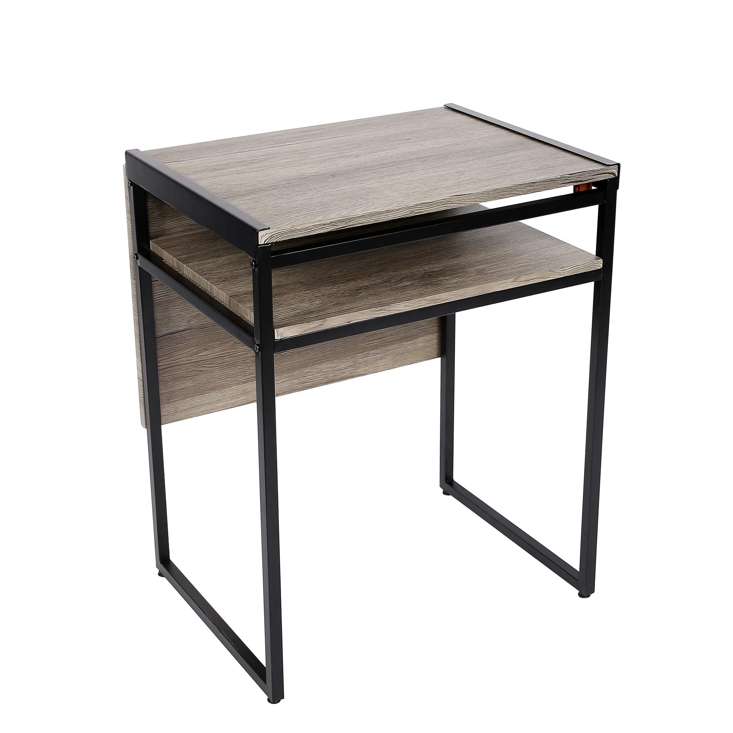 SpaceMaster SMT-08D-BL Small Space Desk and Dining Black Table 35.4 X 29.9 X 23.6