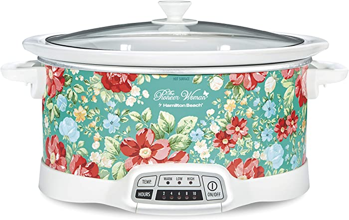 The Pioneer Woman 33479 Programmable Slow Cooker Vintage Floral, 7 Quart