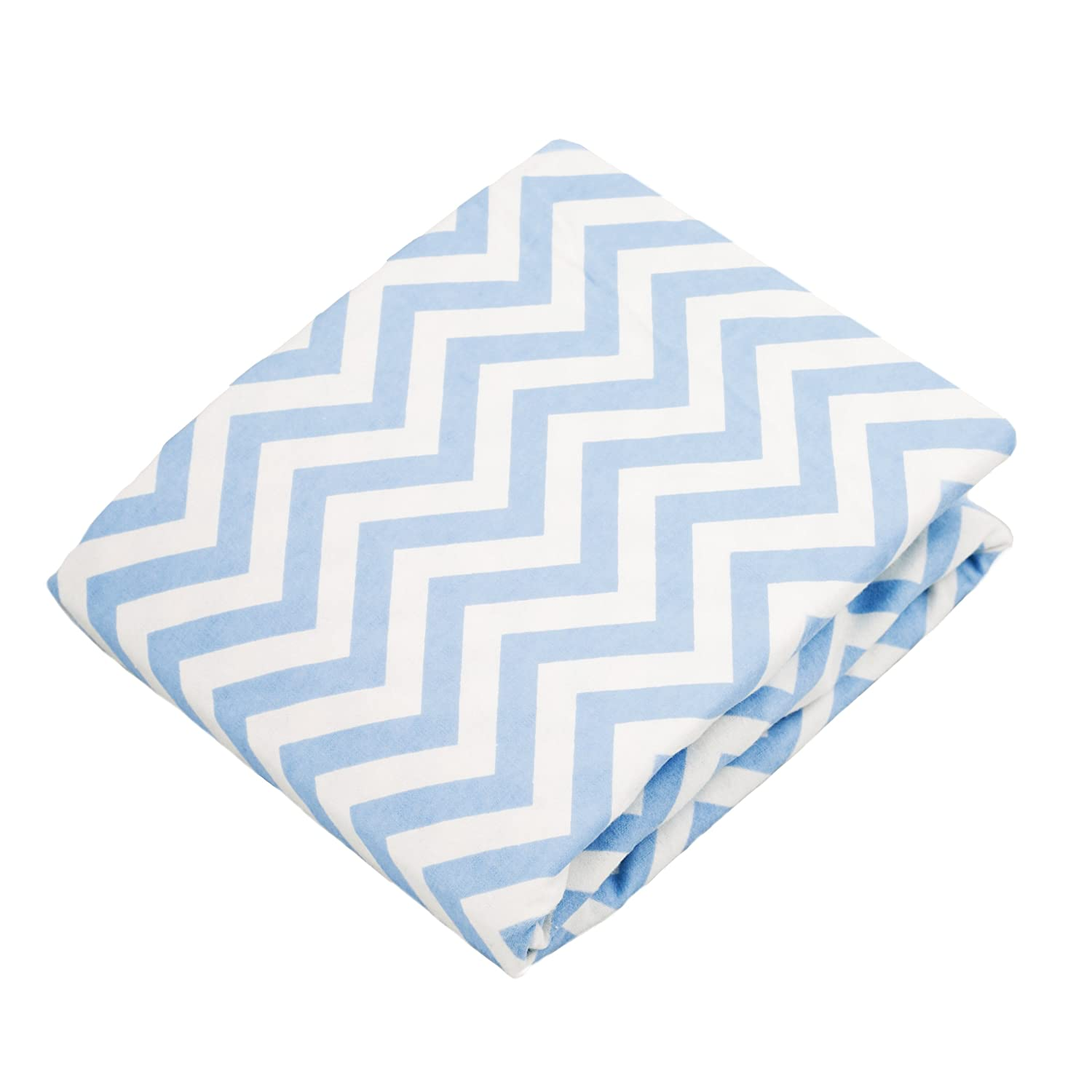 Kushies Changing Pad Cover for 1 pad, 100% breathable cotton, Made in Canada, Blue Chevron Kushies Baby S340-505
