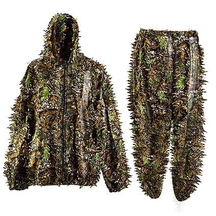 3d hoja traje de camuflaje al aire libre adultos Militar Caza francotirador de camuflaje Ghillie Suit