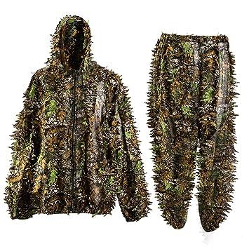 3d hoja traje de camuflaje al aire libre adultos Militar Caza ...