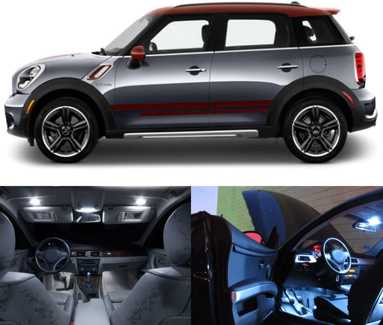 Mini Cooper Interior >> Led White Lights Interior Package Kit For Mini Cooper Countryman R60 17pc