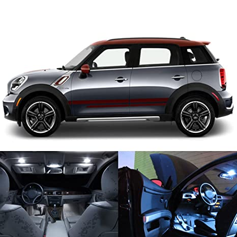 Mini Cooper Interior >> Led White Lights Interior Package Kit For Mini Cooper Countryman R60 17pc