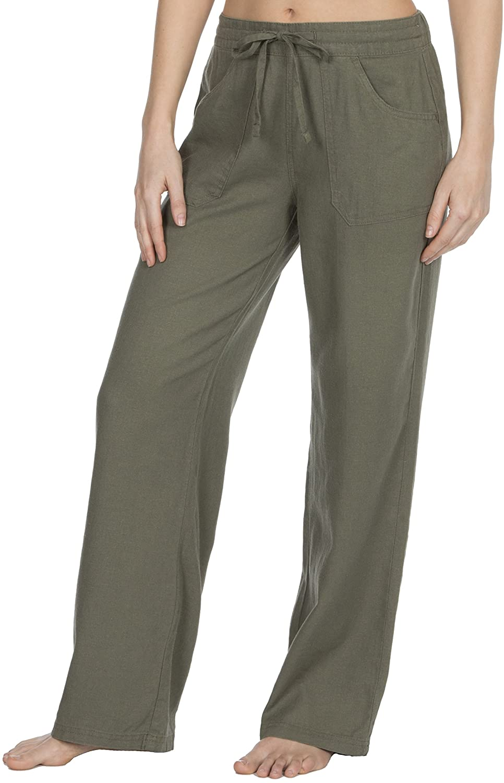 Causeway Bay Ladies Linen Blend Full Length Trousers