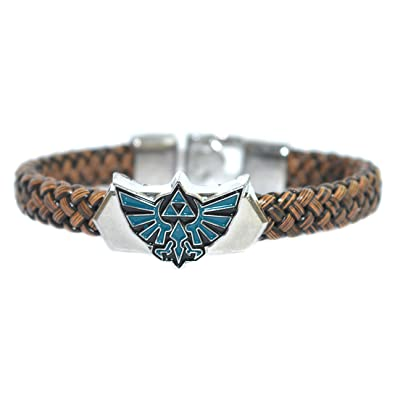 Legend of Zelda Leather Weave Bracelet - Cosplay Accessories - Game Cosplay Jewellery In Gift Box lMKWSGDjur